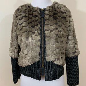 Juicy Couture Faux Fur Tweed Jacket